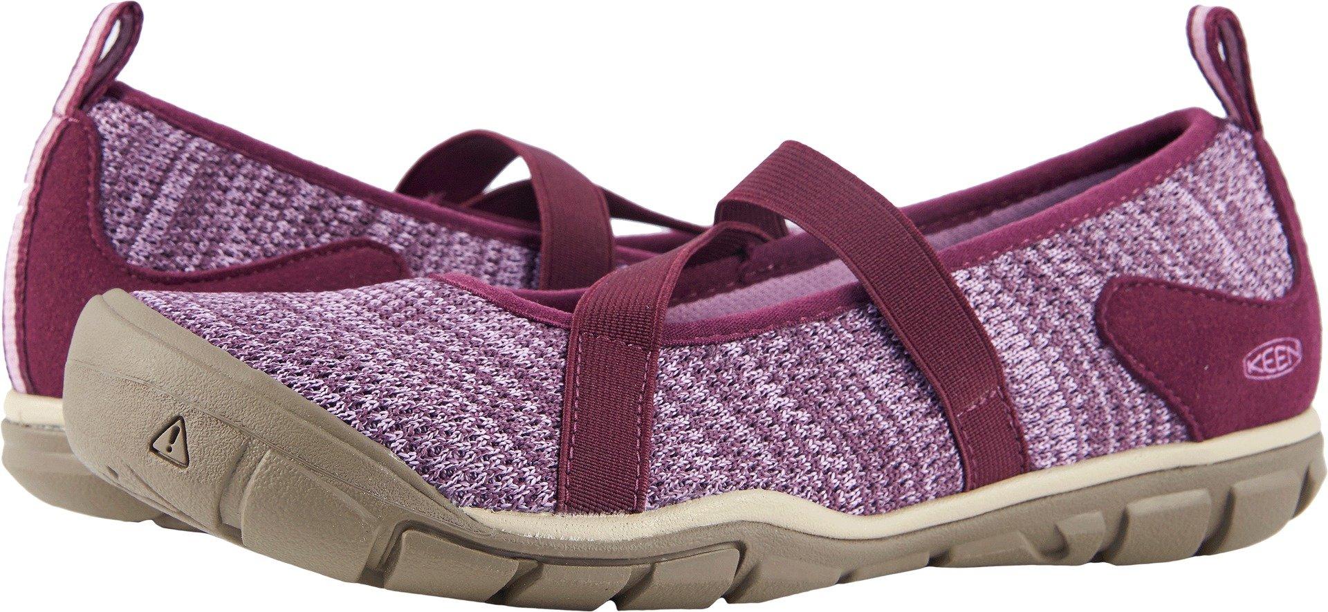 KEEN Women's Hush Knit MJ-W Hiking Shoe, Grape Wine/Lavender Herb, 7 M US