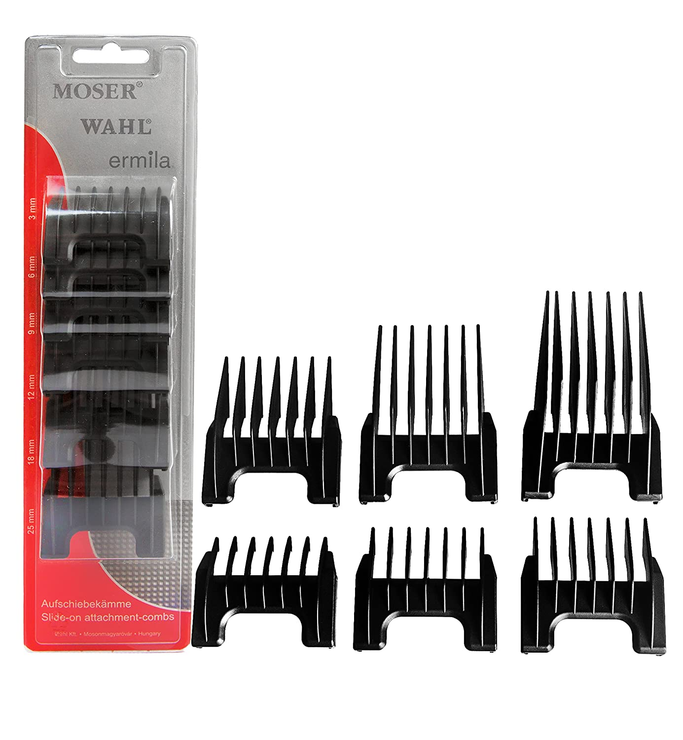 Wahl Professional Detachable Clipper Cutting Guide Set #41881-7430 – Fits Wahl Professional Chromstyle Pro Clipper, Sterling Big Mag, and Sterling Li+Pro – Set of 6 KM1881-7170
