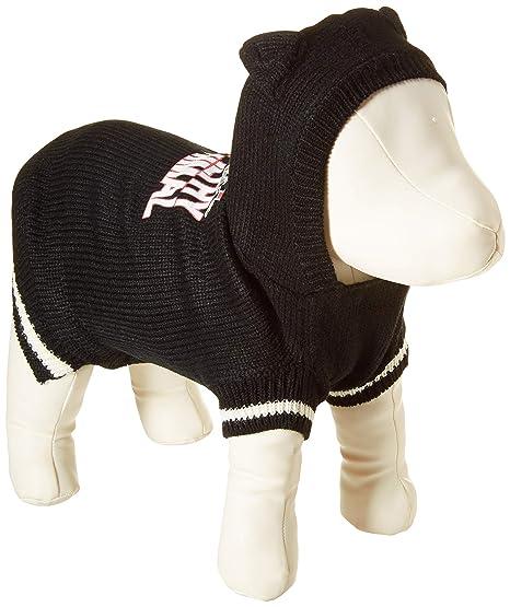 e7cf2880 Mirage Pet Products 621-16 XSBK Ya Filthy Animal Screen Print Knit Black Pet  Sweater