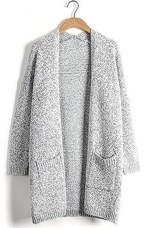 Ruinet SEENFUN Women's Classic Long Sleeve Knit Sweater Open Front ...