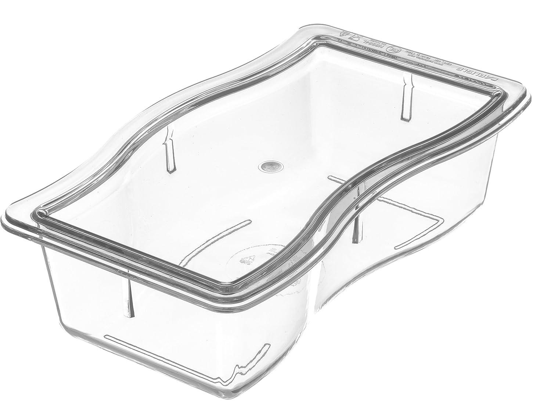Case of 6 Carlisle 6984L07 Polycarbonate Modular Displaywear Half Size Lid 9-3//4 x 5-3//4 x 1//2 Carlisle FoodService Products CA6984L07 9-3//4 x 5-3//4 x 1//2 Clear