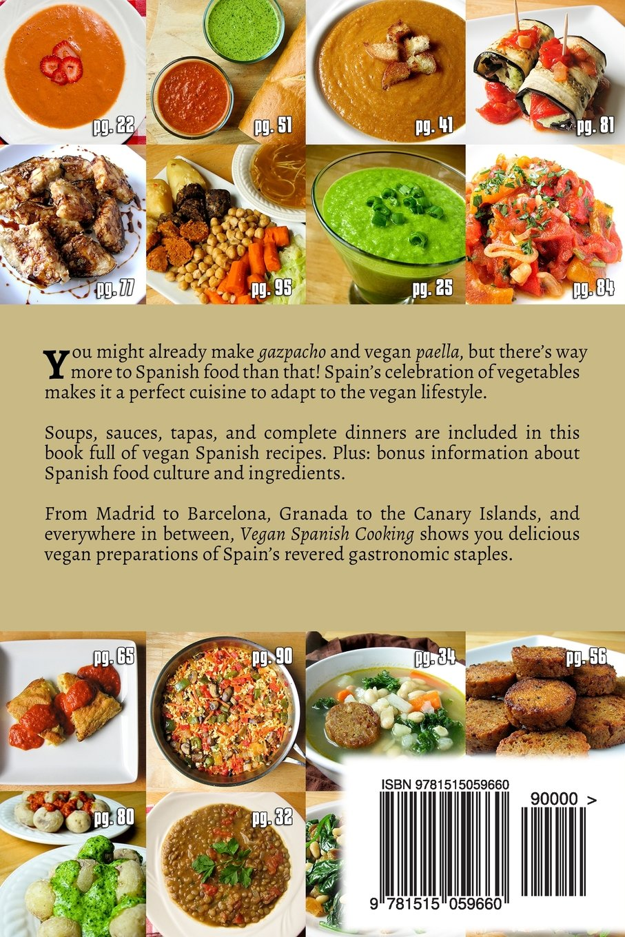 Vegan spanish cooking andy luttrell 9781515059660 amazon books forumfinder Gallery