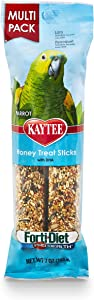Kaytee Forti-Diet Pro Health Parrot Honey Treat Stick Value Pack, 7-Oz