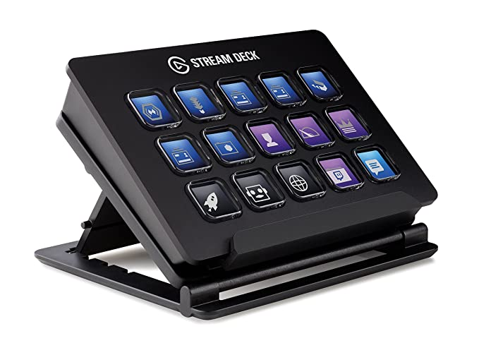 Elgato Stream Deck - Live Content Creation Controller with 15 customizable  LCD keys, adjustable stand, for Windows 10 and macOS 10 11 or later