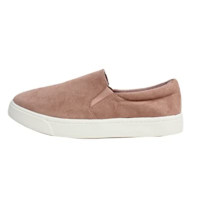 SODA Women's Round Closed Toe Faux Suede Elastic White Sole Slip On Loafer | Loafers & Slip-Ons