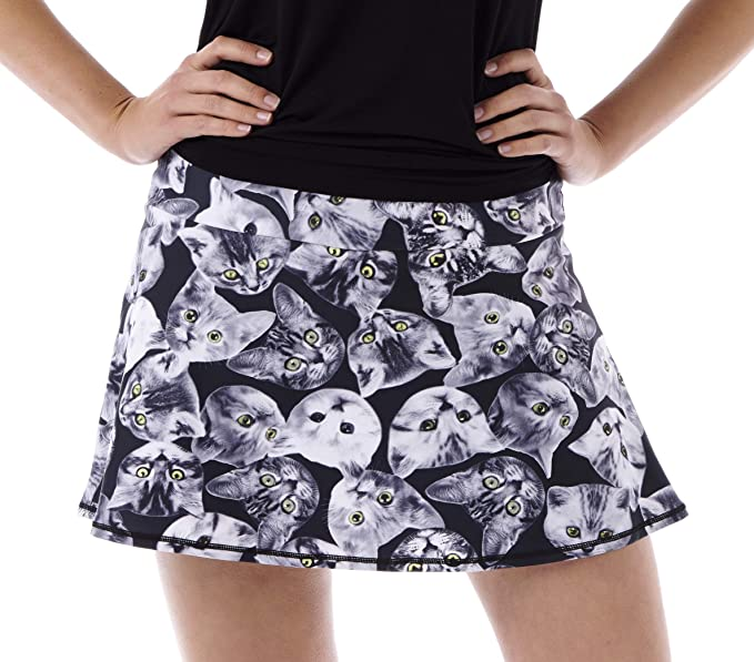 Amazon.com: ¡Reina de los Gatos de la Corte! Print Falda de ...