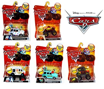 Amazon Com Disney Pixar Cars Deluxe Toon Monster Truck Mega