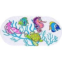 Non Slip Bath Mat with 162 Powerful Suction Cups Machine Washable Anti Slip Massaging Rubber Baby Bathtub Shower Mat…