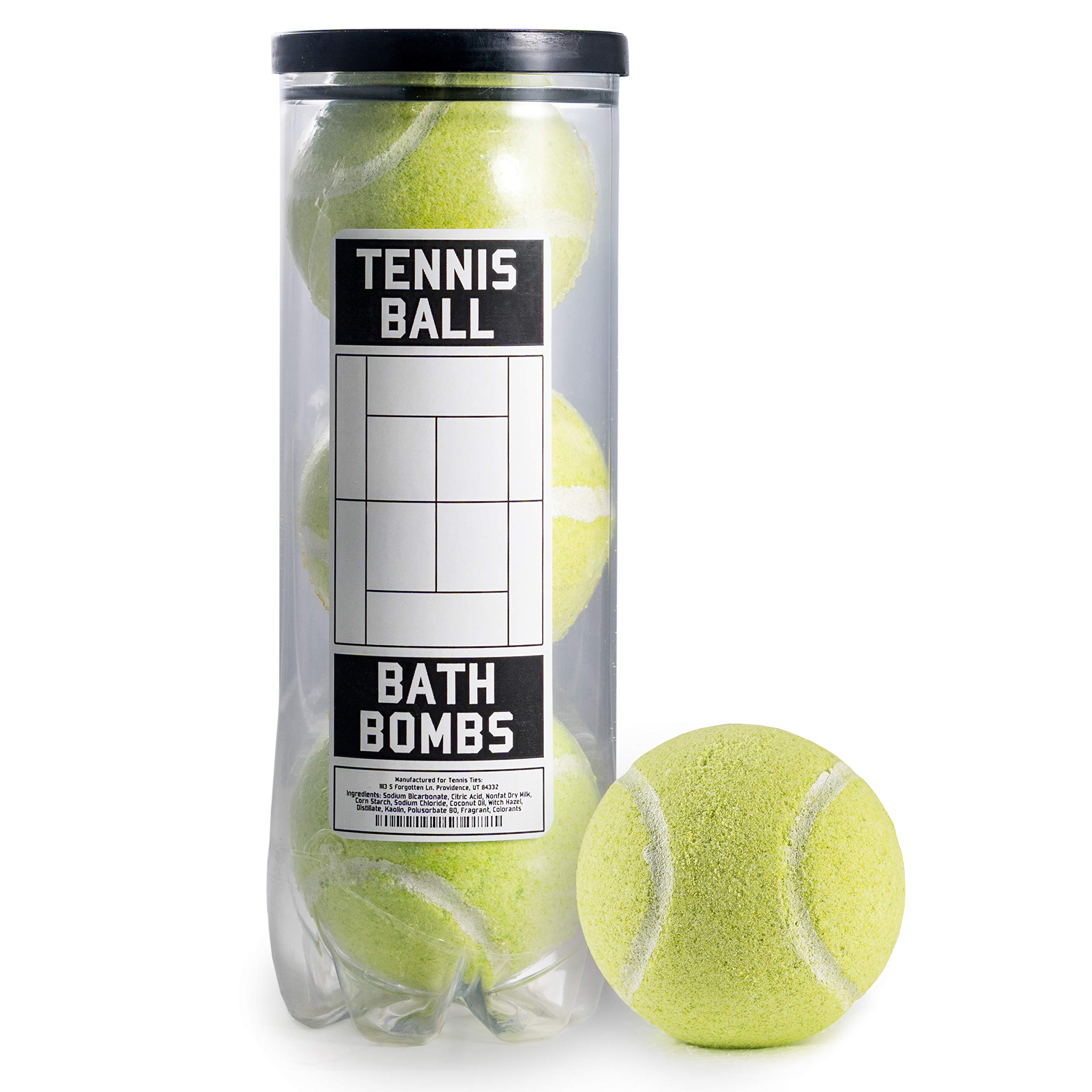 Amazon.com : Tennis Ball Bath Bombs - 3 pack - Large, 6 oz Scented Bath Bomb Fizzies - Great Gift for Players, Women, Girls, Birthdays, Coaches, Opponents, ...