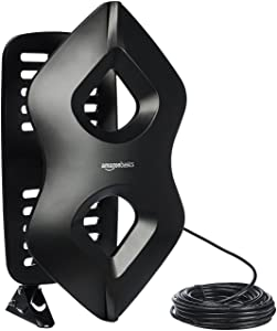 AmazonBasics Amplified Indoor/Outdoor TV Antenna - 60 Mile Range