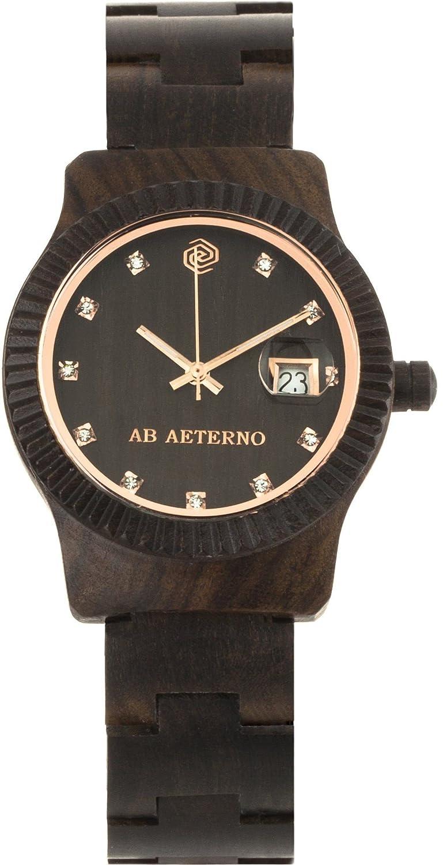 Ab Aeterno Tempesta Damenuhr Sandelholz schwarz ABSW004