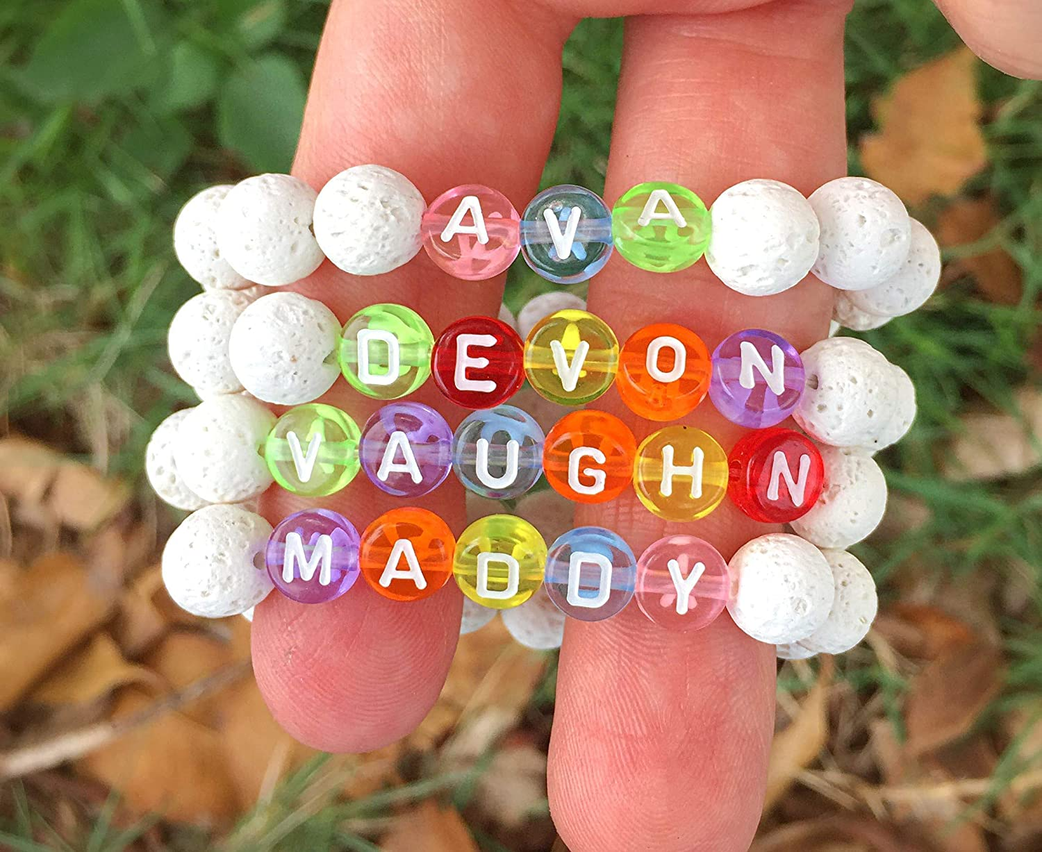 Personalized Bracelet for Kids, Kids Essential Oil Jewelry, Custom Name Bracelet, Choose the Size