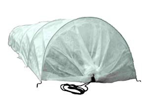Tierra Garden 50-5060 Haxnicks Easy Fleece Tunnel Garden Cloche, Cover and Protect Plants from Harsh Weather, Animals, and Pests, Fleece Dome for Your Garden