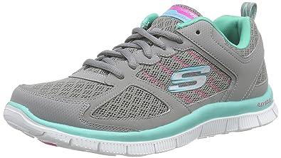 Skechers Women's Flex Appeal Lace Up Epicenter Gray/Mint 10 B(M) US New