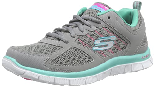 382c82871ae Skechers Women s Flex Appeal Epicenter Trainers Grey Grau ...