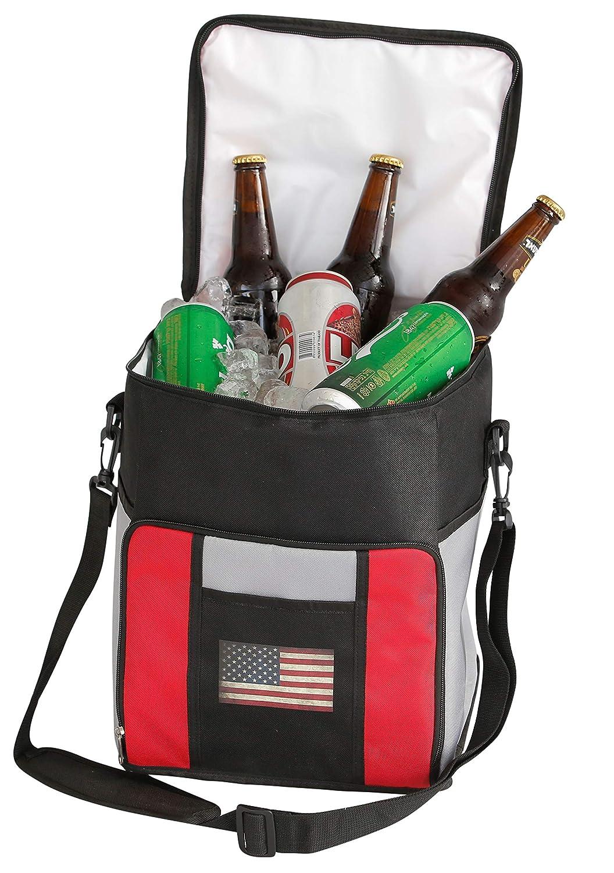 USA PROMART Männer: Premium Faltbare Kühltasche, Patriotisch, groß, auslaufsicher, weich, Isoliert, für Lebensmittel, Bier und Getränke