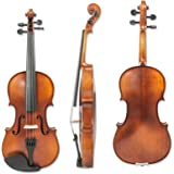 Guumuh S31 Violin 4/4 Full Size, Maple Spruce Solidwood Violin with Two Rosins, Bow and Case, Premier Antique Finish