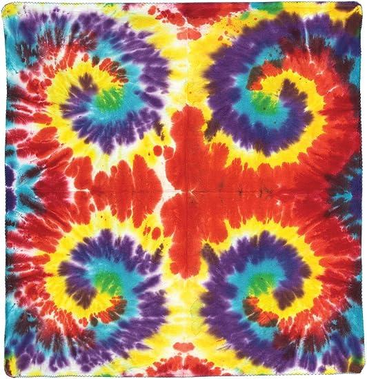LOGO Handmade Tie Dye BANDANNA//BANDANA with PICTURE DESIGN PEACE SIGN HEART