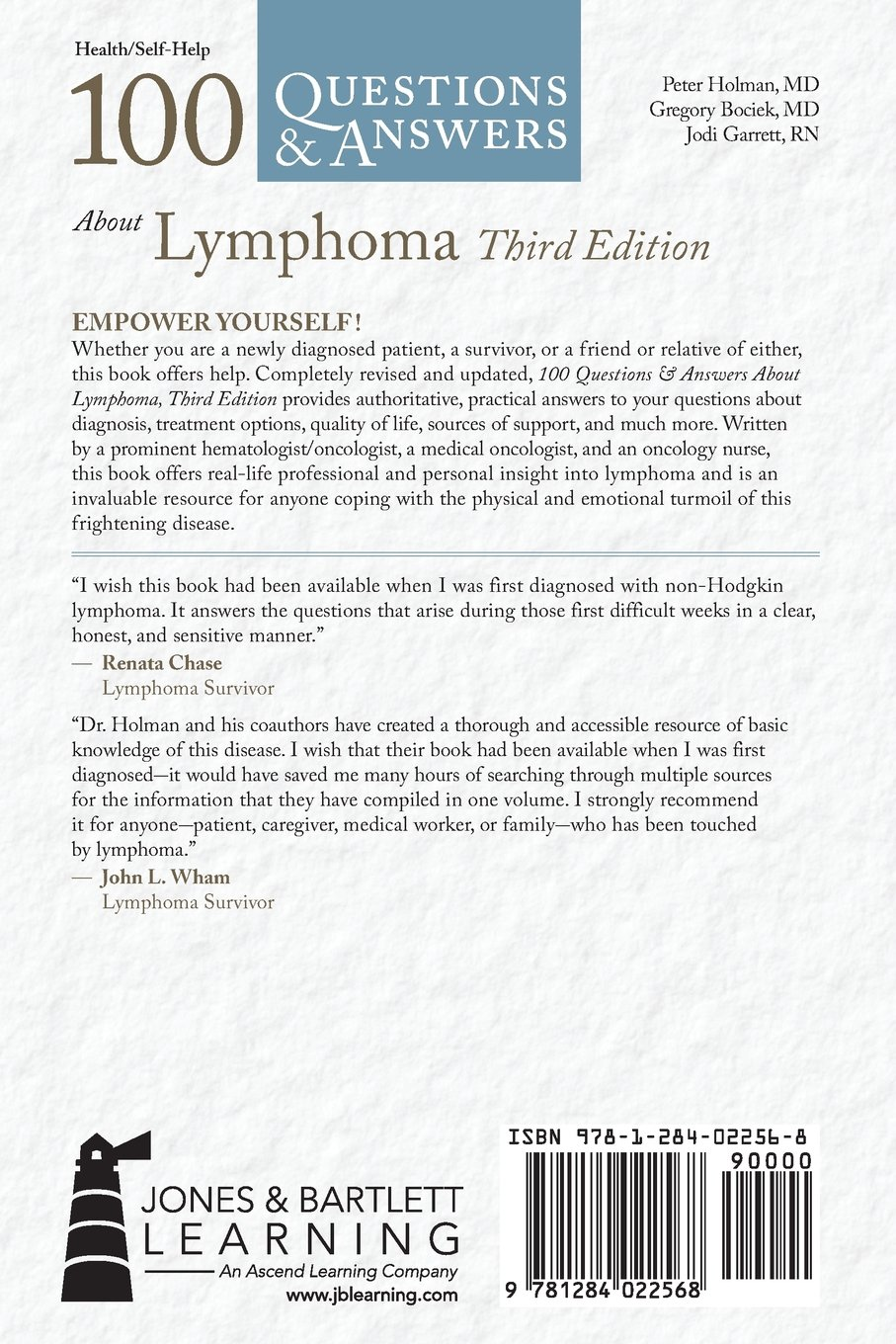 100 Questions & Answers About Lymphoma: Peter Holman, Gregory Bociek:  9781284022568: Oncology: Amazon Canada