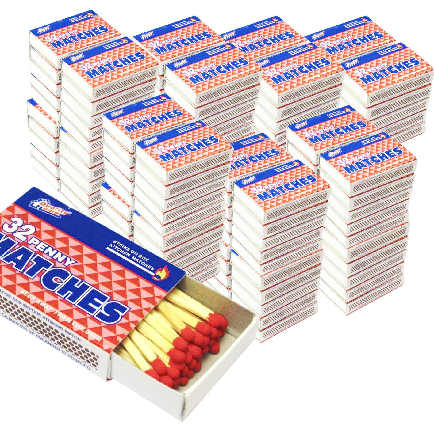 200 Packs Matches 32 Count Strike on Box Kitchen Camping Fire Wholesale Lot Bulk