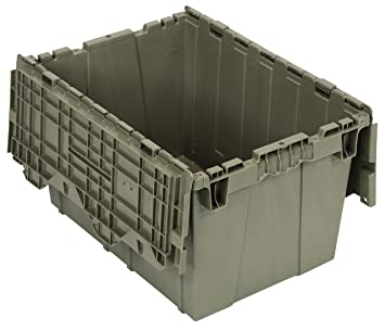Quantum QDC2115 12 Plastic Storage Container With Attached Flip Top Lid,  21u0026quot;