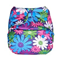 Bumberry Reusable Diaper Cover Without Insert - Purple Flowers