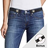 Women No Buckle Elastic Belt Ladies Invisible Waist Plus Size Belt for Jeans Pants Dresses By JasGood…