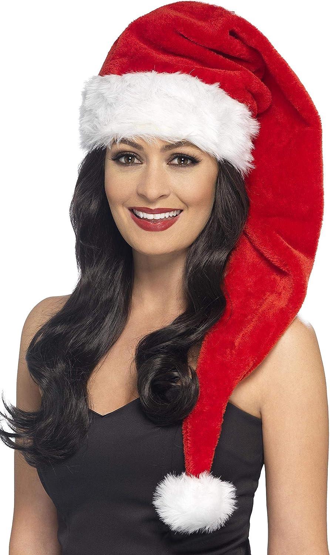 Meiwash Weihnachtsm/ütze Nikolausm/ütze Pl/üsch Hut Erwachsene Hut Weihnachten Familie Partyzubeh/ör M/ütze Weihnacht Christmas Xmas 1pc Erwachsener