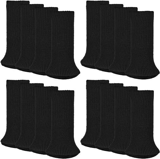 Anti-Slip Table Leg Pad Cover Non-Skid Sofa Chair Feet Mat Floor Protector Black