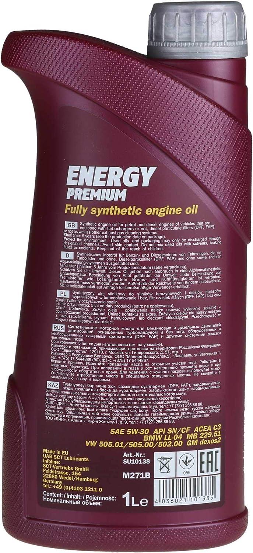 Filter Set Inspektionspaket 7 Liter Mannol Motoröl Energy Premium 5w 30 Api Sn Cf Sct Germany Ölfilter Auto