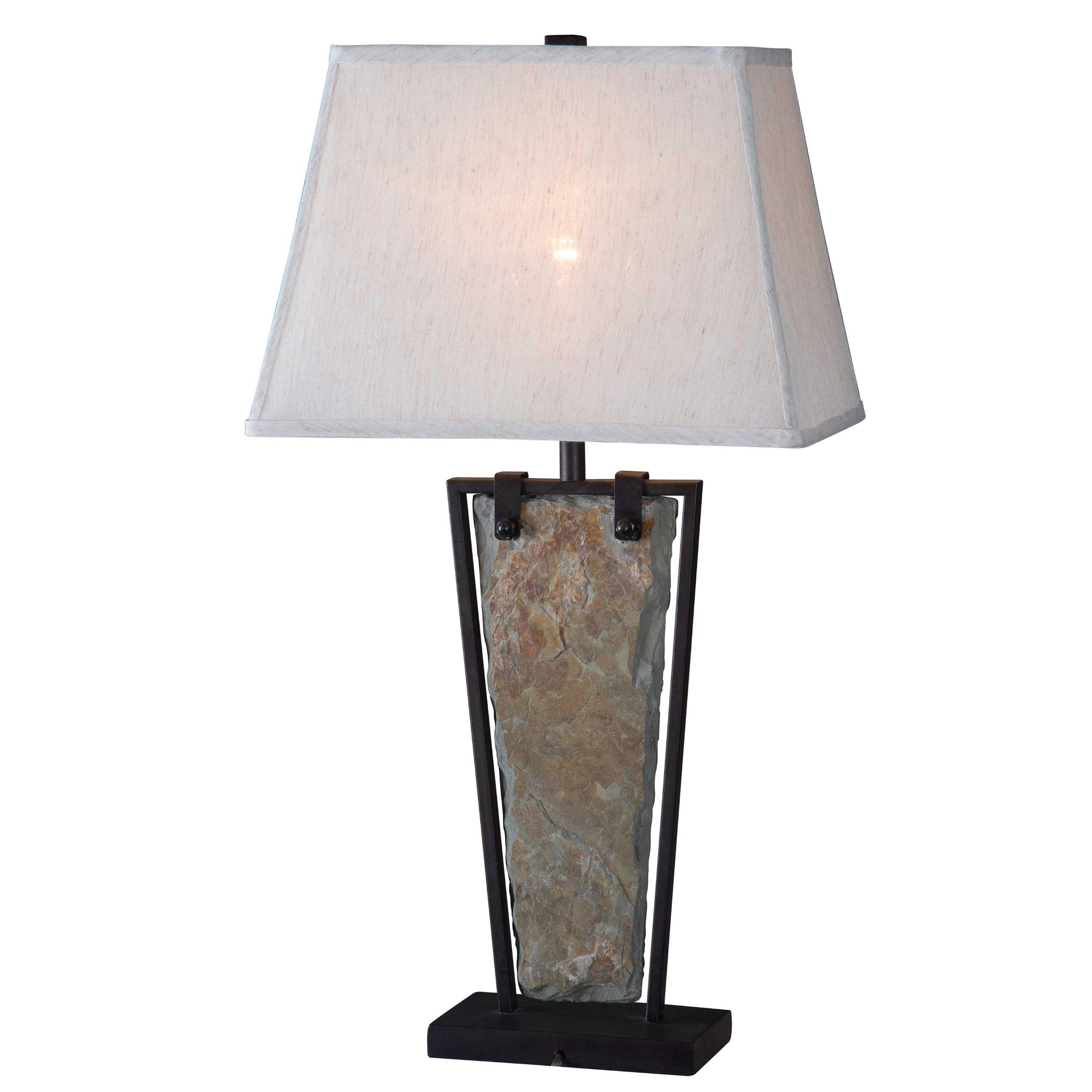 Kenroy Home 32227SL Free Fall Table Lamp, 16'' x 16'' x 30'', Natural Slate