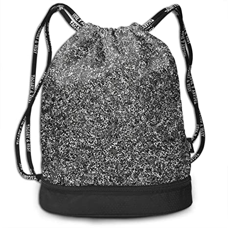 Amazon.com: XUJ YOGA Drawstring Backpack Sports Bag Cinch ...