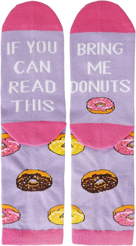 Women's Funny Taco Sushi Bacon Donut Chocolate Golf Game Socks, Christmas Gift