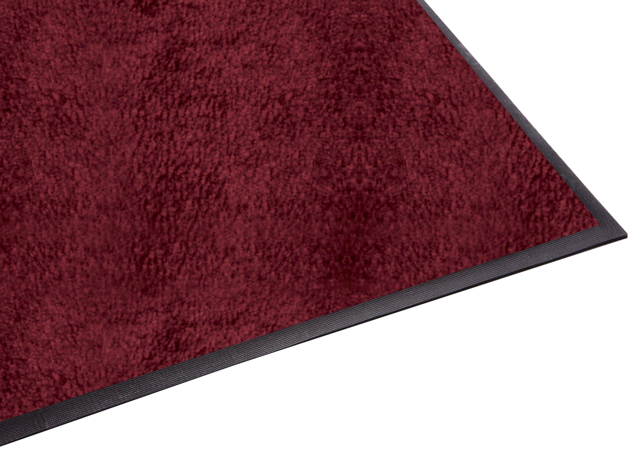 Guardian Platinum Series Indoor Wiper Floor Mat, Rubber with Nylon Carpet, 6'x7', Burgundy