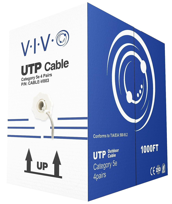 Amazon.com: VIVO New 1,000 ft bulk Cat5e Ethernet Cable/Wire UTP ...