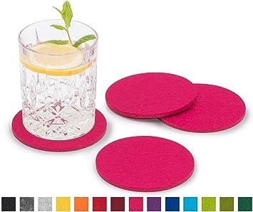 Schön FILU Filzuntersetzer Rund 8er Pack Einfarbig (Farbe Wählbar) Pink U2013  Untersetzer Aus Filz Für