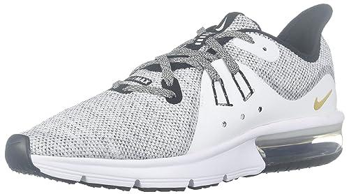 pretty nice 2dd17 0f1f5 Nike Air Max Sequent 3 Black-White Bianco-Nero EU 36.5 US 4.5  Amazon.it   Scarpe e borse