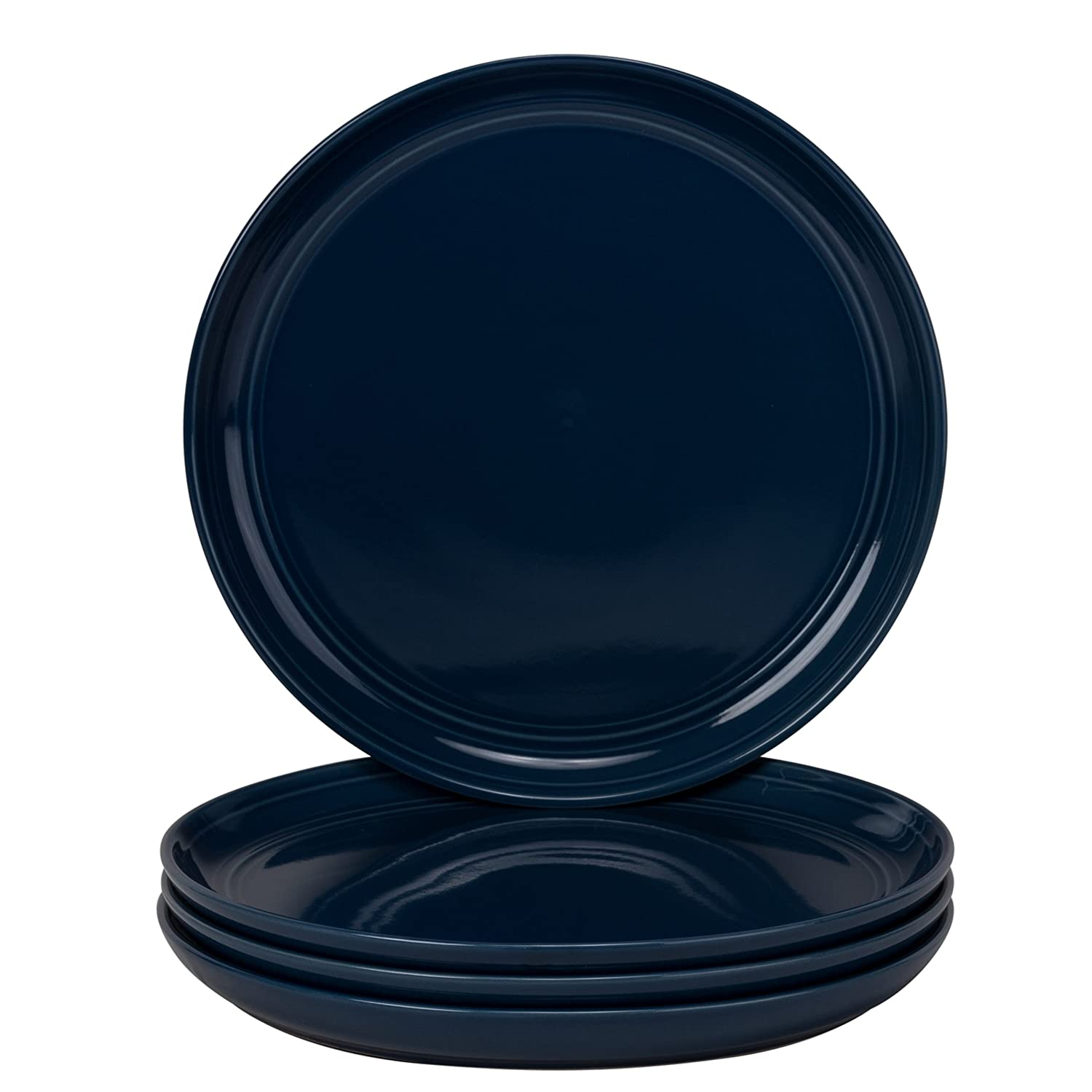 10 Strawberry Street DBL-1600CBLT-OS Double Line 16 Piece Dinnerware Set, Cobalt