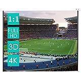 CCLIFE Beamer Leinwand Format 1:1 Rollo für Heimkino Business Fußballstadion als Full-HD und 3D-Leinwand/ 2 jährliche Garantie 203x203/ 178x178/ 152x152cm, Größe:152 x 152 cm