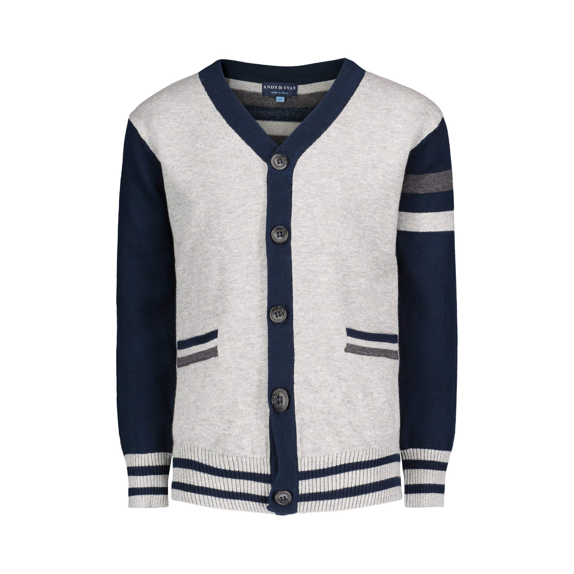 Andy & Evan Infant, Toddler & Kid Boys' Varsity Cardigan with Pockets by Andy & Evan