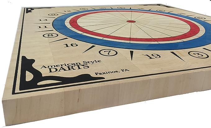American Style Wood Dartboard Baseball Darts Approved A.B.D.A
