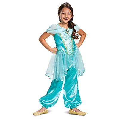 Disney Princess Jasmine Classic Girls' Costume, Teal: Toys & Games