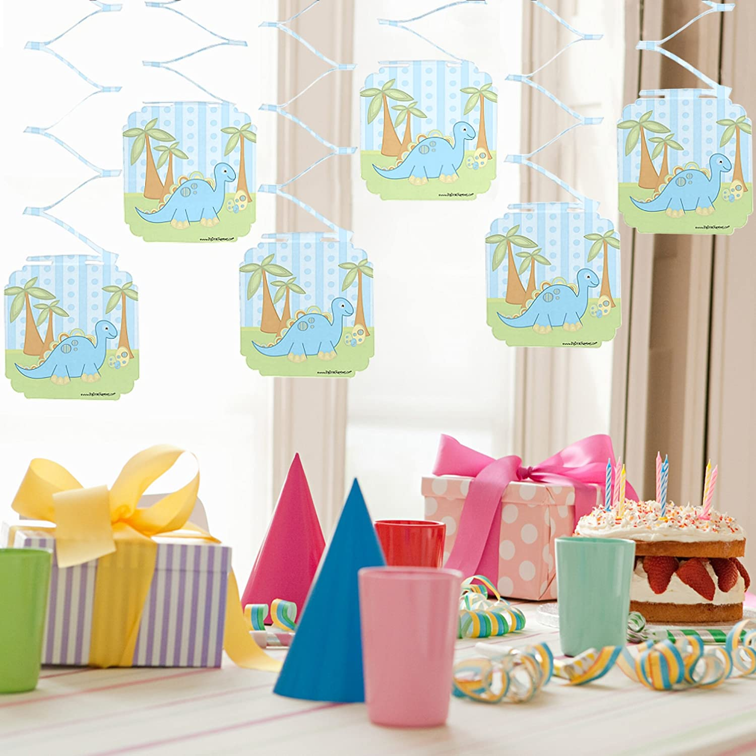 Amazon.com: Baby Boy Dinosaur - Baby Shower Party Hanging ...