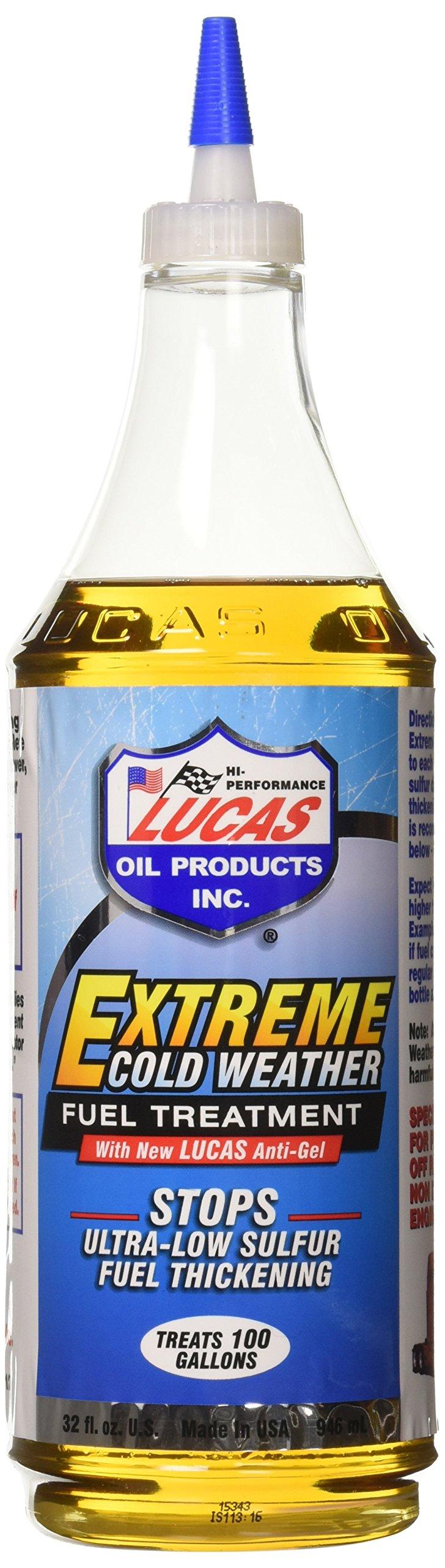 Lucas Oil 10012 Extreme Cold Weather Fuel Treatment, 1 Quart, (Case of 12) by Lucas Oil