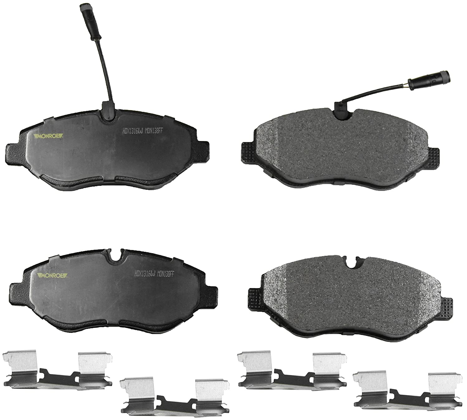 Monroe HDX1316W Severe Solution Brake Pad with Wire Wear Sensor