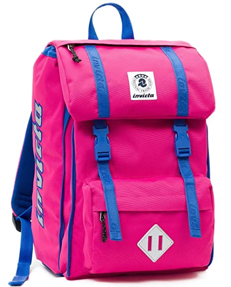 2a37bf8a48 ZAINO INVICTA estensibile - SQUARE - Rosa - tasca porta pc padded - scuola  e tempo