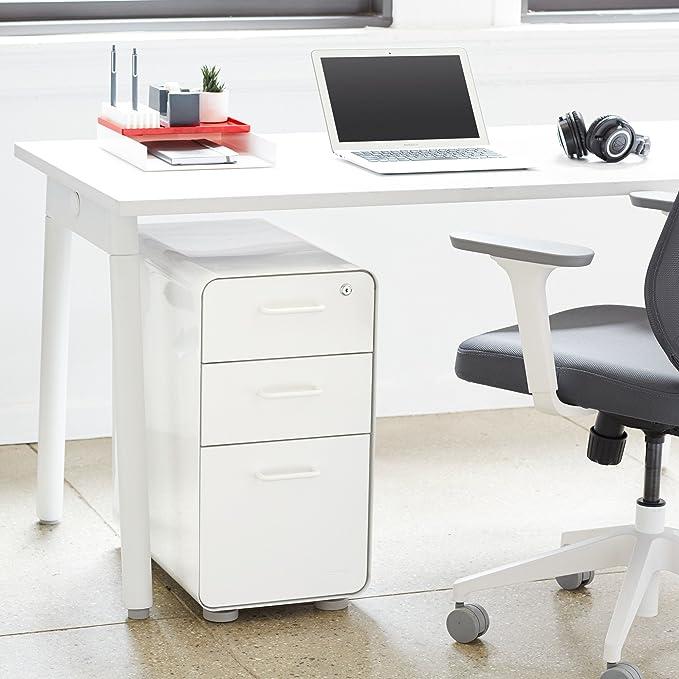 Poppin White File Cabinet