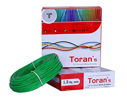 DMT Toran Electrical Wire 1 Sq MM FR PVC Insulated Copper Wire for Home Use | Electric Wire | | 1 sq mm Wire | 90 Mtr Coil -