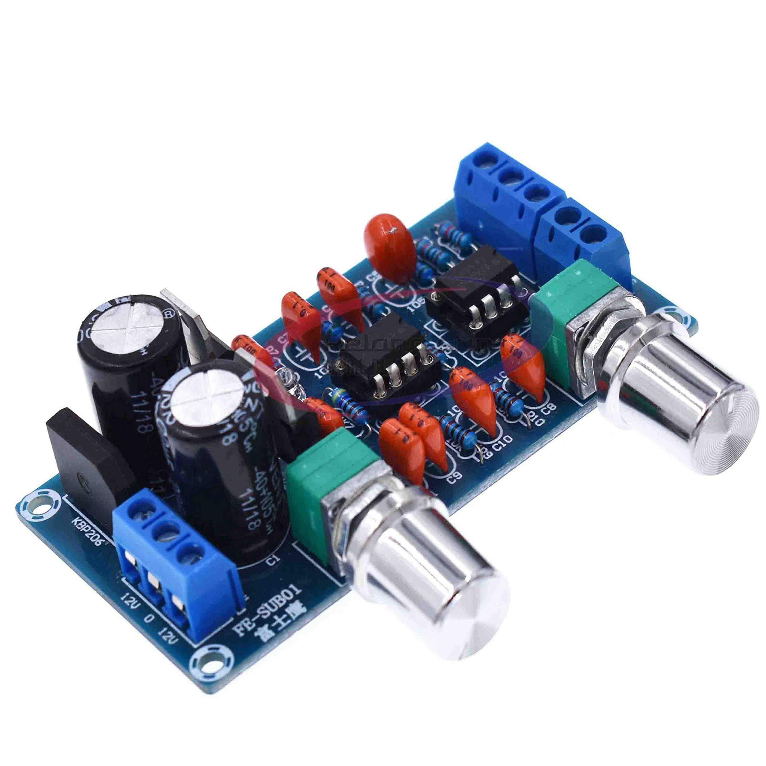 New NE5532 Low Pass Filter Board Subwoofer Volume Control Board Amplifier Module 9-15V