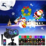 Holiday Projector Lights Outdoor 26 HD Effects (3D Ocean Wave & Patterns) Waterproof with RF Remote Control Timer for Easter